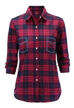 Plaid, Korean, Shirts, Fashion, Nightgown, Blouses, Free Market, Women, Long Sleeve