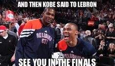 Oklahoma City Thunder Funny   Kevin Durant & Russell Westbrook #Thunder