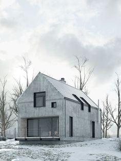 Eine Winterhütte aus Beton. Zu modern?