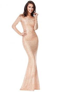 Get Quiz Stunning Rose Gold Sequin Fishtail Maxi Evening Dress UK Hurry up! Maxi Dresses Uk, Evening Dresses Uk, Formal Dresses, Golf Outfit, Stunning Dresses, Retro Dress, Cute Woman, Fishtail, Amazing Women