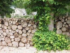 Log wall, The Pig Hotel