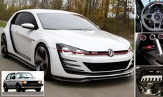 One-of-a-kind Volkswagen Golf Design Vision GTI costs £3.4 MILLION :)