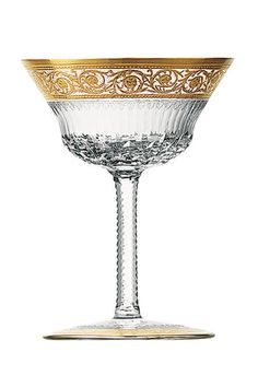 Champagne Saucers, Champagne Glasses, Gold Champagne, Cut Glass, Glass Art, Saint Louis Crystal, Vase Deco, Crystal Glassware, Cocktail Glassware