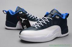 venda de tenis online Branco/Azul AIR JORDAN 12 RETRO LOW Masculino
