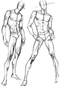 【福利】分享一些人体动态结构图给喜欢服装...@哦-U-never-know采集到Cartoon(1419图)_花瓣插画/漫画