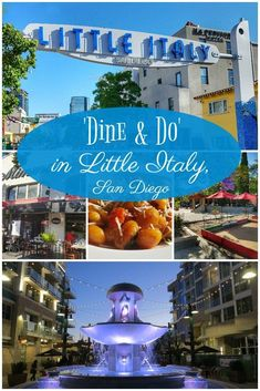 'Dine & Do' in Little Italy, San Diego - Postcards & Passports San Diego Vacation, San Diego Travel, Shopping In San Diego, San Diego Tours, San Diego Little Italy, Places To Travel, Places To Visit, Travel Destinations, Travel Pics