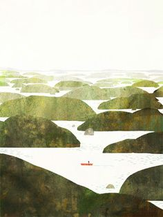 Jon Klassen. This reminds me of the trip between the North and South Islands of New Zealand.