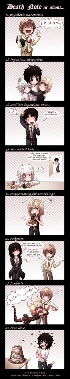 Death Note is about... by Tenshi-no-Hikari on DeviantArt