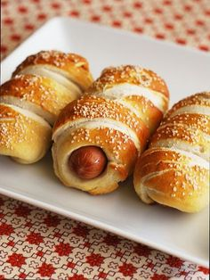 Pretzel Dogs - hot d