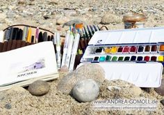 Watercolor Sketchbook - sketching / creating art on the go - urban sketching - travel art supplies by Andrea Gomoll