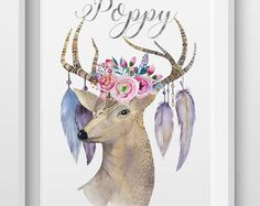 Watercolor Deer Posters And Prints Wall Art Canvas Prints Cuadros Wall Pictures For Living Room Canvas Painting Class Pictures, Glass Printing, Personalised Prints, Art Graphique, Canvas Prints, Art Prints, Canvas Pictures, Wall Pictures, Home Wall Decor