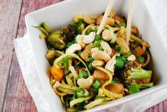 Cashew Chicken with Zucchini Noodles
