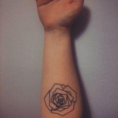 tattoo, rose, #tattoo #minimalist #geometric