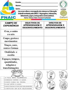 Atividades Escolares: VAMOS PLANEJAR: NOVA BNCC SEM COMPLICAÇÕES Folder Diy, Education, Nova, Portal, Activities For Students, Lesson Planning Templates, Daycare Lesson Plans, Dyslexia, Autism