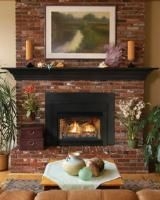 "nnsbrook Direct Vent Fireplace Insert, includes Stainless Steel Slope Glaze ""Flair"" Burner, Banded Brick Ceramic Fiber Liner, 33,000 Btu - Natural Gas"