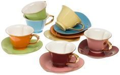 24 Best Colorful Coffee Tea Sets Images In 2017 Coffee Cups