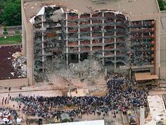April 19 – Oklahoma City bombing: 168 people, including 8 Federal Marshals and 19 children, are killed at the Alfred P. Murrah Federal Building. Timothy McVeigh and one of his accomplices, Terry Nichols, set off the bomb.