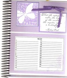 May page of Card Organizer by DRStamper - Cards and Paper Crafts at Splitcoaststampers Card Organizer, Organizers, Planners, Stamping, Paper Crafts, Bullet Journal, Faith, Craft Ideas, Organization
