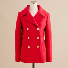 Unique 21 Pea Coat (255 SAR) ❤ liked on Polyvore featuring