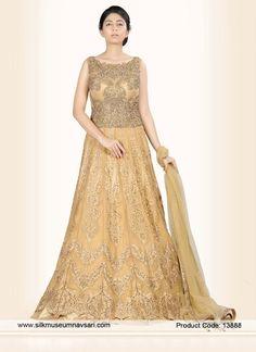 Absorbing Net Diamond Work Party Designer Gown