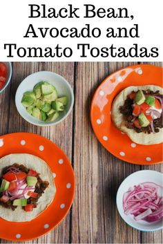 These tostadas with black beans are easy and quick to prepare and delicious to eat, just add your favourite toppings. Skip the sour cream to make them vegan.