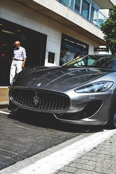 Maserati GranTurismo Sport parked outside WAV & Co.
