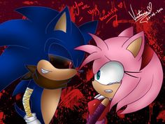Sonic exe and amy rose (sonic boom)