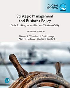Strategic Management and Business Policy  15th Edition Pdf Download e-Book