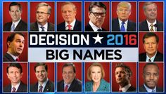 WHERE DO THEY FALL? The 3 categories of  2016 candidates