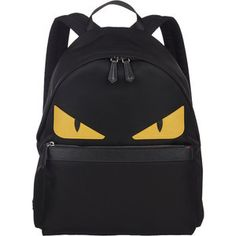 Fendi Monster Backpack With Fur Crest