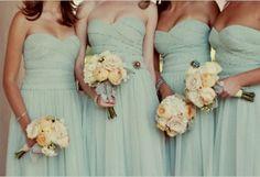 pale aqua bridesmaids dresses