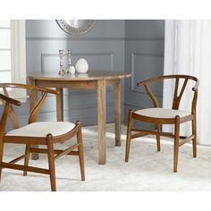 Safavieh Aramis Antique Brown/ Taupe Dining Chair (Set of 2)