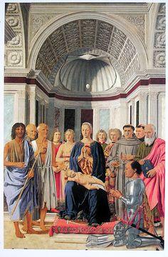 La Conversation sacrée, par Piero della Francesca, 1472, huile sur bois, Pinacothèque de Brera, Milan.