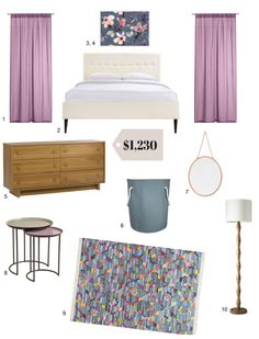 Starting Out/Starting Over: A Smartly Shopped $1200 Bedroom | Apartment Therapy