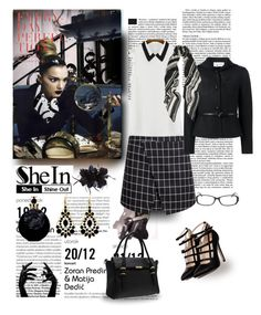 """SHEIN SKIRT; Unleash your mysterious side"" by citychiclifestyle on Polyvore featuring Betsey Johnson, Valentino, Balmain and Untold"