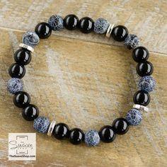 Weathering Agate & Natural Stone Beaded Bracelet