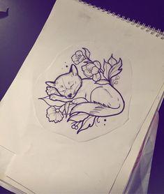 Für Morgen ❤ #tattoodesign #tattoo #ink #inked #fox #foxtattoo #friedatätowierungen #sketch #drawing #illustration #outline #pictureoftheday #igers #instadaily #neotraditional #blackandwhite #draw #❤