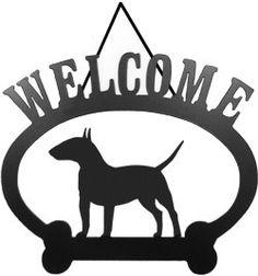 Sweeney Ridge Bull Terrier Welcome Sign