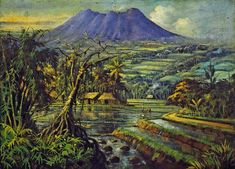 Suburnya Negeriku by Abdullah Suriosubroto. Realism. landscape