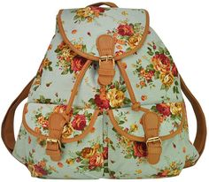 stacy bag hot popular women printing backpack girls fashion beautiful floral prints travel backpack vintage flower canvas bag $14.00