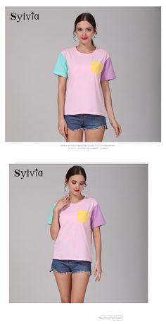 d8cd8b147 Sylvia Harajuku Patchwork T-Shirt