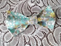 cottage chic bow tie floral bowtie green bow by accessories482