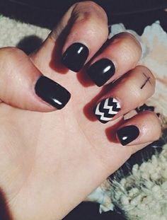 Gorgeous black nails