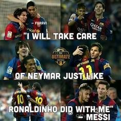 Ronaldinho, Messi and Neymar Lionel Messi, Messi Vs Ronaldo, Messi Gif, Cristiano Ronaldo, Funny Soccer Memes, Sports Memes, Football Troll, Football Is Life, Messi Soccer