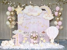 Custom Fabric Backdrop for Birthday&Baby Shower&Wedding&Any Other Party 1st Birthday Party For Girls, Girl Birthday Themes, Baby Girl Shower Themes, Baby First Birthday, Baby Shower Parties, Bday Girl, Birthday Backdrop, Birthday Party Decorations, Baby Shower Decorations