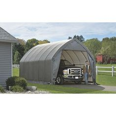 Truck Camping Canopy   ShelterLogic Garage And Shelter Series SUV And Truck  Garage In A Box, Gray, 13 X 20 X 12 Feet ** Details Can Be Found By  Clicking On ...