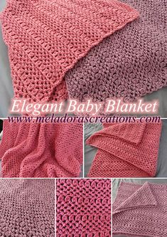 Elegant Baby Blanket – Free Crochet Pattern & video tutorials by Meladora's Creations