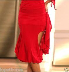2013 Latin salsa tango rumba Cha cha Ballroom Dance Dress skirt (Black,Red)S8010