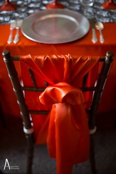 orange silver metallic fall wedding rustic industrial cedarmont franklin tn, planned by @epiphanyevents  of #nashville
