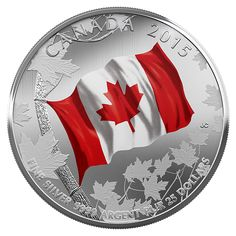 $25 for $25 Fine Silver Coin – 50th Anniversary of the Canadian Flag (2014)
